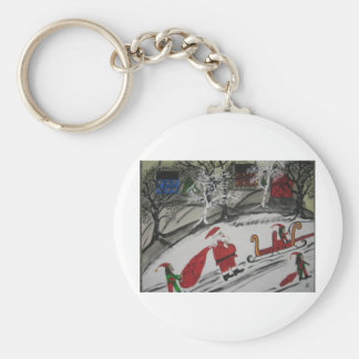 Santa Work is Done. Keychain
