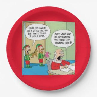Santa Workshop Operation Paper Plate