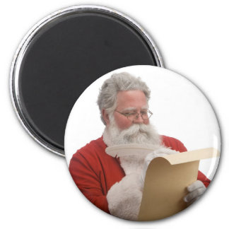 Santa writing Naughty & Nice List 2 Inch Round Magnet