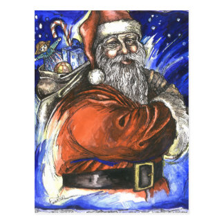 Santa Xmas Postcard