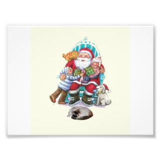 Santa y amigos impresion fotografica