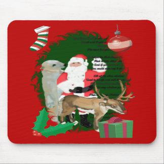 Santa y amigos tapetes de raton