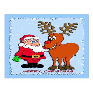 Santa y camisetas y regalos de Rudolph Postales