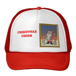 Santa y el coro animal gorras de camionero