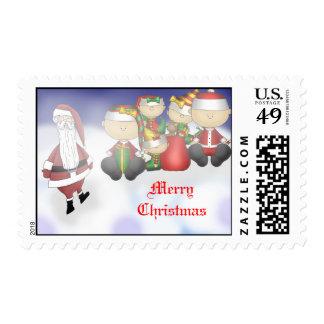 Santa y equipo sello