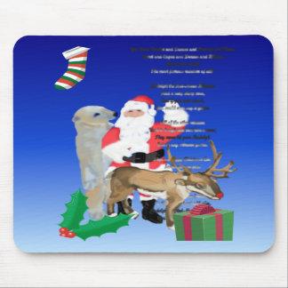 Santa y Friends2 Alfombrillas De Ratones
