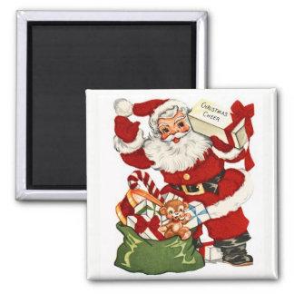 Santa y imán del vintage de la alegría del navidad