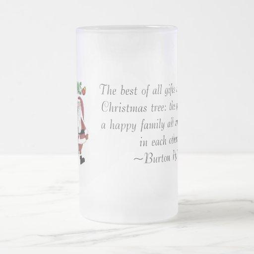 Santa y la cuadrilla taza de cristal