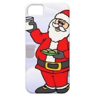 Santa y las galletas iPhone 5 fundas