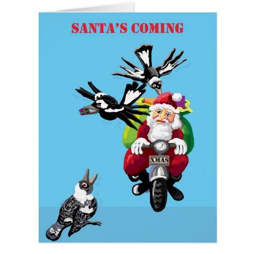 Santa y las urracas tarjetón