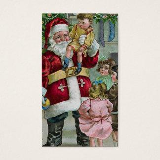 """""""Santa y los niños """" Tarjeta De Negocios"""