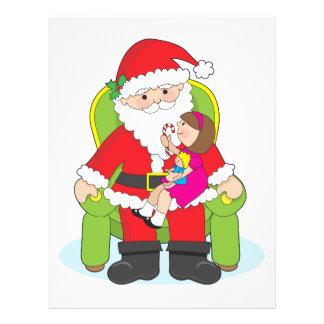"Santa y niño folleto 8.5"" x 11"""