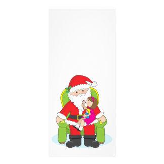 Santa y niño tarjetas publicitarias a todo color