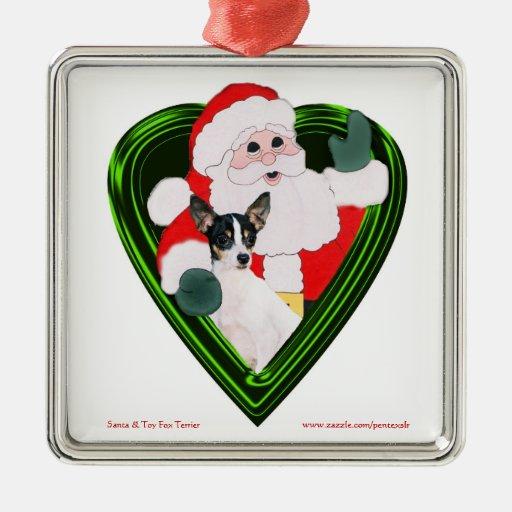 Santa y ornamento cuadrado de TFT Ornamento Para Reyes Magos
