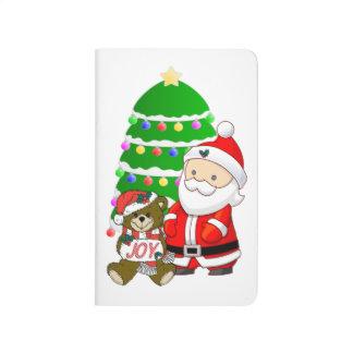 Santa y oso del navidad cuadernos grapados