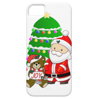 Santa y oso del navidad iPhone 5 fundas