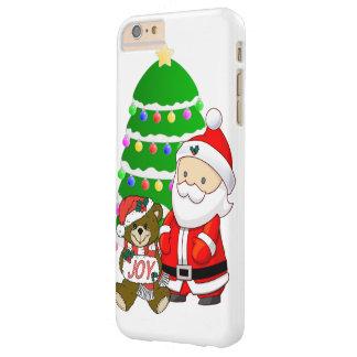 Santa y oso del navidad funda de iPhone 6 plus barely there