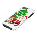 Santa y oso del navidad funda de iPhone 6 tough