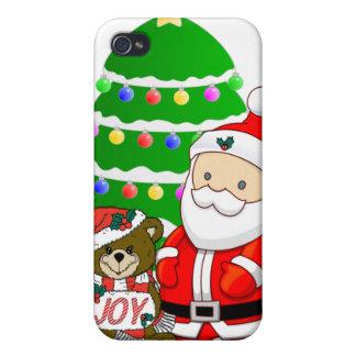 Santa y oso del navidad iPhone 4 coberturas