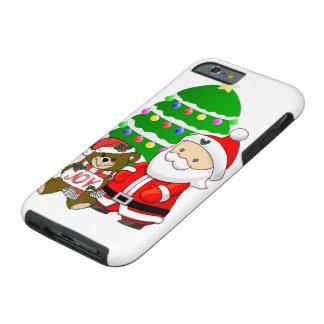 Santa y oso del navidad funda resistente iPhone 6