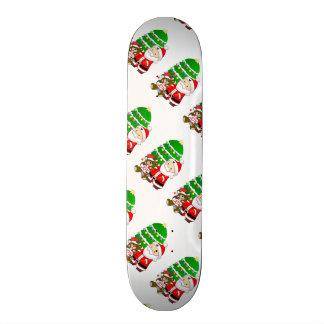 Santa y oso del navidad tabla de patinar