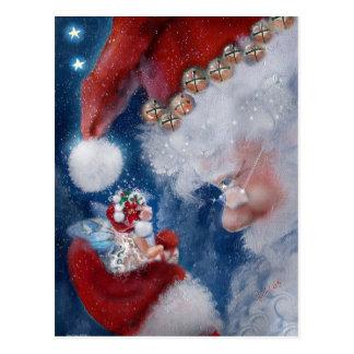 Santa y postal del día de fiesta del Faery