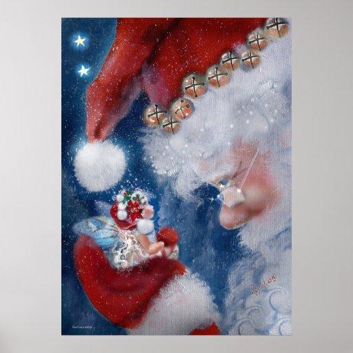 Santa y poster del día de fiesta del Faery