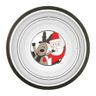 Santa y reno alegres #1 cuenco para mascotas