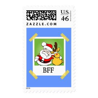 Santa y reno BFF