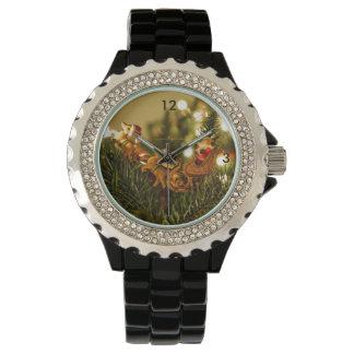 Santa y reno relojes