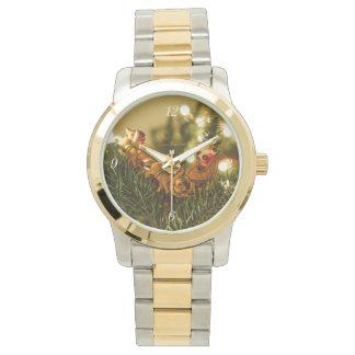 Santa y reno relojes de pulsera