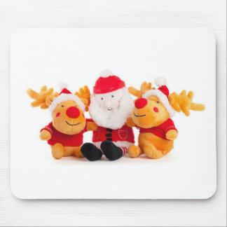 Santa y renos alfombrillas de ratón