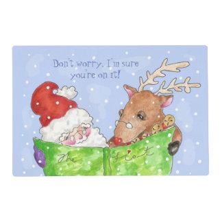 Santa y Rudolf Placemat Salvamanteles