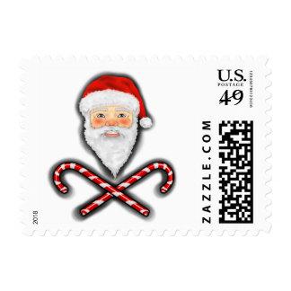 Santa y sello cruzado de los bastones