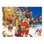 Santa y señora Claus en el Polo Norte, Nochebuena Tarjetas Postales