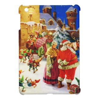 Santa y señora Claus en la Nochebuena de Polo Nort