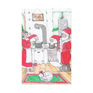 Santa y señora Claus Large Canvas Impresión En Lienzo