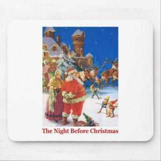 Santa y señora Claus On la noche antes del navidad Alfombrillas De Raton