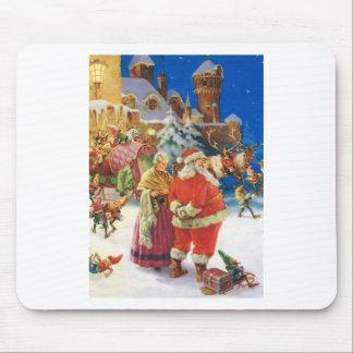 Santa y señora Claus- Polo Norte el Nochebuena Alfombrillas De Ratón