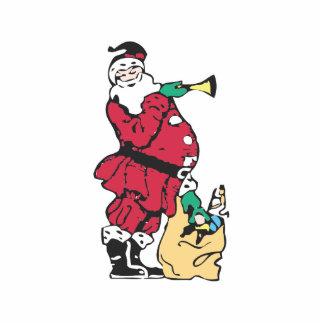 Santa y su bolso del juguete esculturas fotograficas