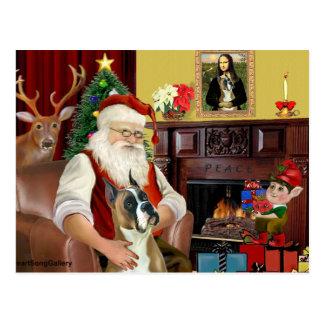 Santa y su Boser (oídos cosechados) Tarjeta Postal