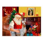 Santa y su llama del bebé postales
