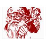Santa y su paquete de juguetes