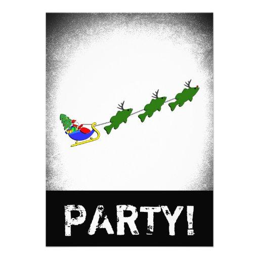 Santa y su perca americana - divertidos invitación