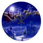 Santa y su reloj de pared del trineo