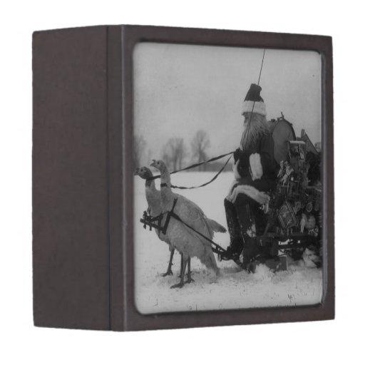 Santa y su reno de Turquía Cajas De Recuerdo De Calidad