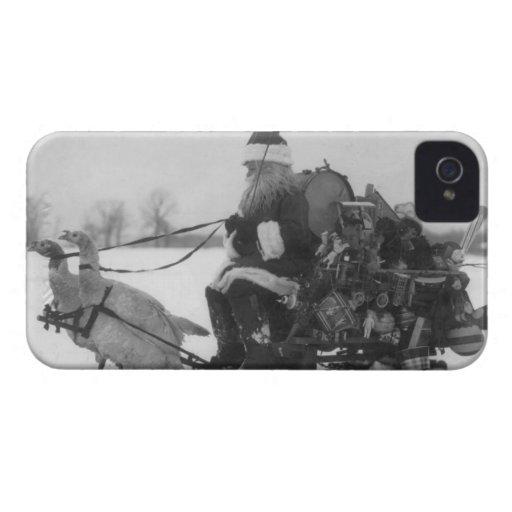 Santa y su reno de Turquía Case-Mate iPhone 4 Protector