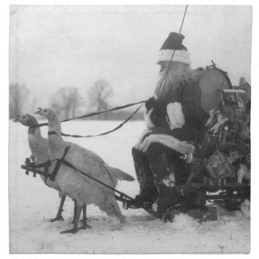Santa y su reno de Turquía Servilleta