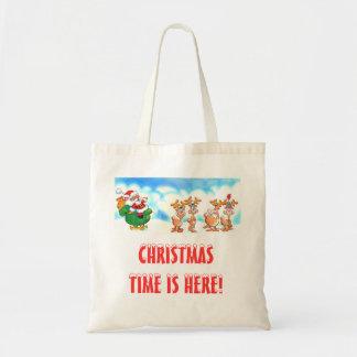 ¿Santa y su reno? El hacer compras o regalo del na Bolsa Tela Barata