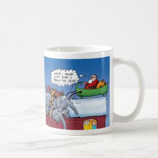 Santa y su taza de los elefantes